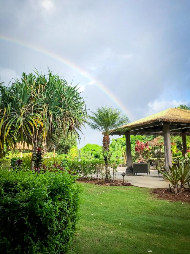 rainbow over the Westin Princeville