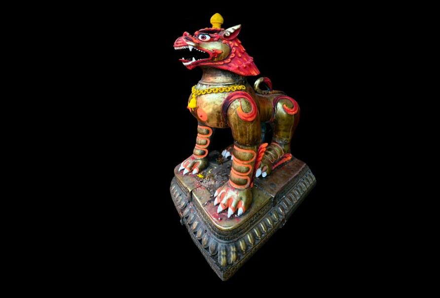 Nepal - Kathmandu - Temple Lion - 2d