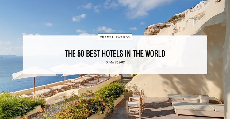 50 Best Hotels 2017