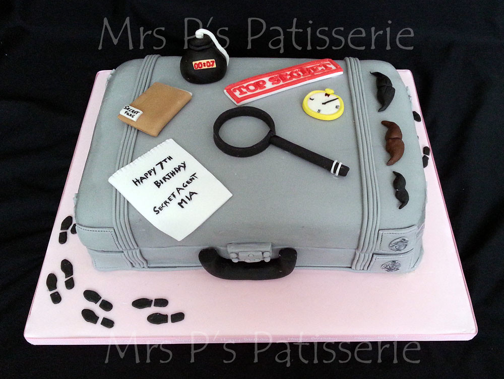 Secret Agent Spy Case Cake Secret Agent Spy Themed