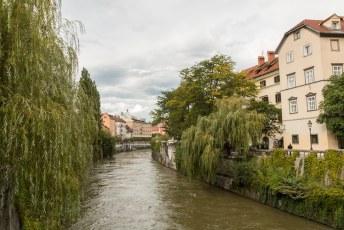 De Ljubljanica rivier vormt het hart van het historisch centrum en aan beide zijden vindt je veel goede horeca waar je lekker een terrasje kunt pakken.