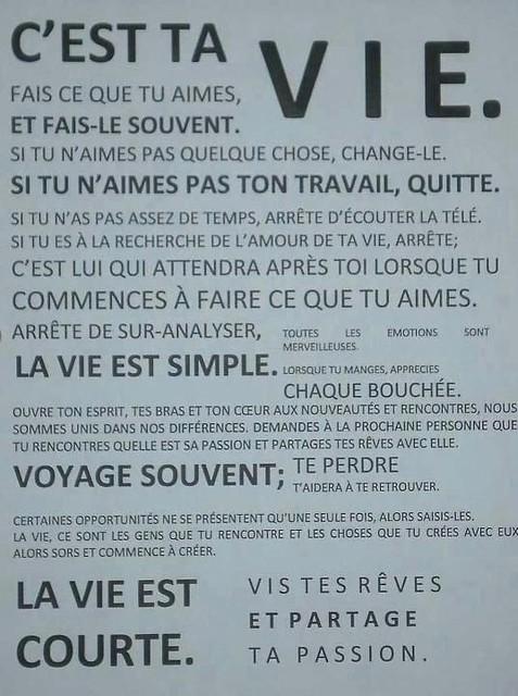 La Vie Est Courte Citation : courte, citation, Meilleurs, Citations, Travail, Courte..., Http…, Flickr