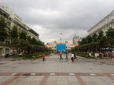 Ho Chi Minh statue, under wraps :(