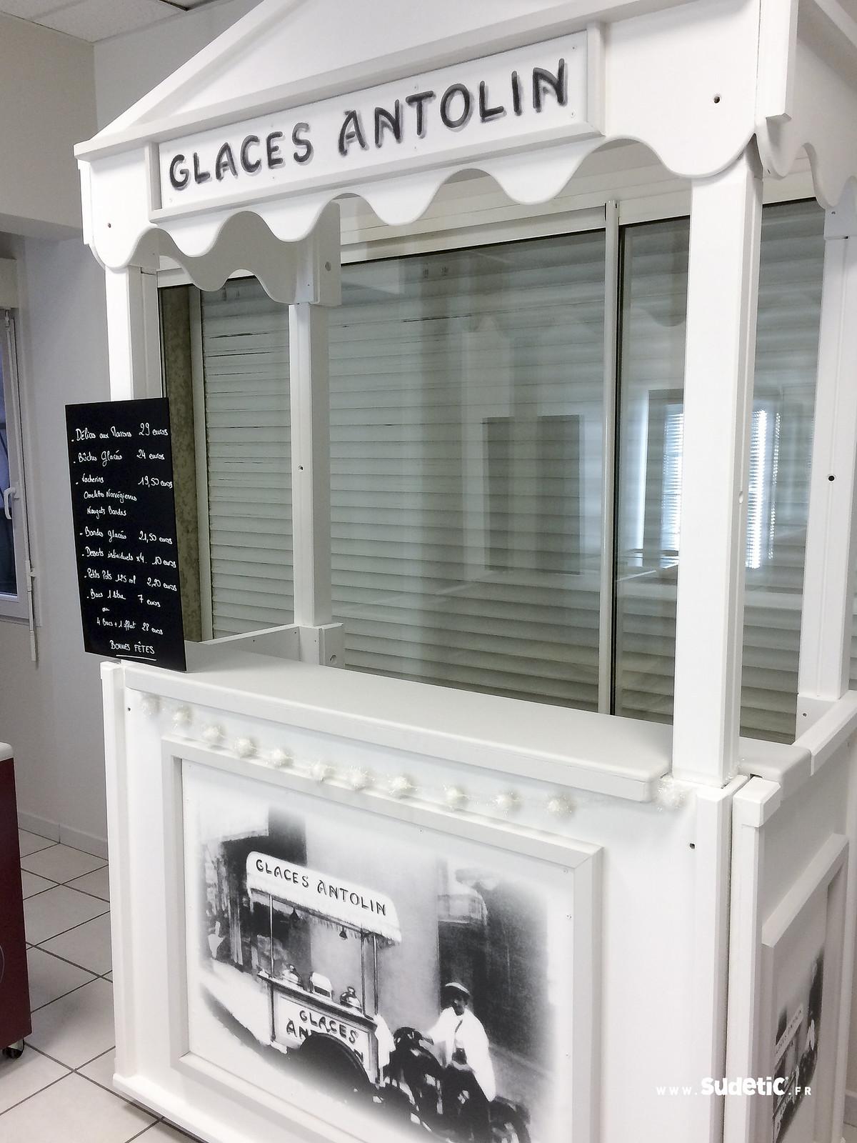 Sudetic impression kiosque Glaces Antolin