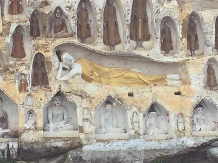 Akauk Taung Bhudda Carvings