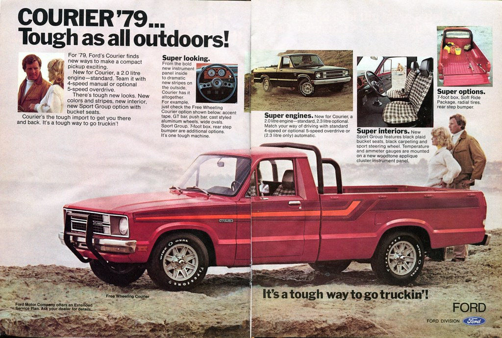 1979 Ford Courier Pickup Truck Advertisement Hot Rod Decem