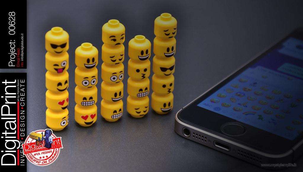 project 628 - Emoji Head lego