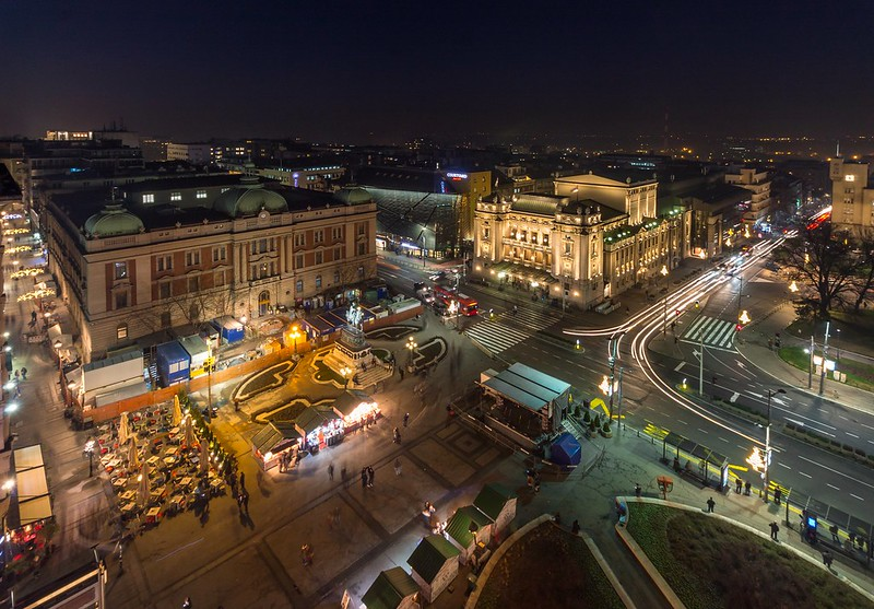 Republic Square by night
