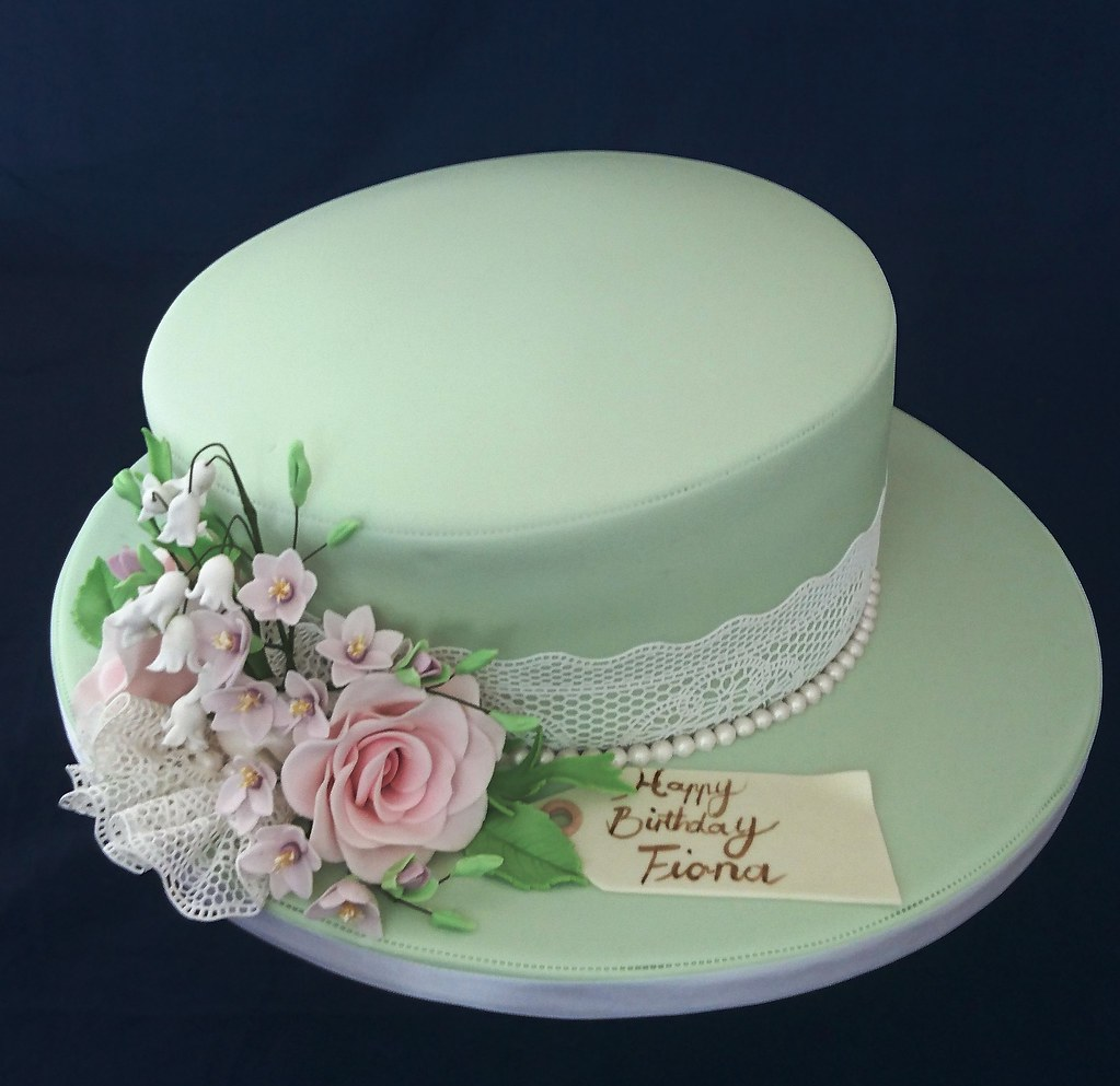 Hat Styled 80th Birthday Cake Geraldine Horton Flickr