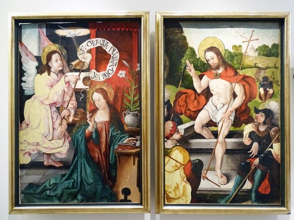 Museo Catedral de Burgos Pinturas Anunciacion y Resureccion Retablo de Bocos s. XVI Leon Picardo