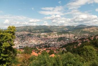 Je hebt er een mooi uitzicht over de stad.