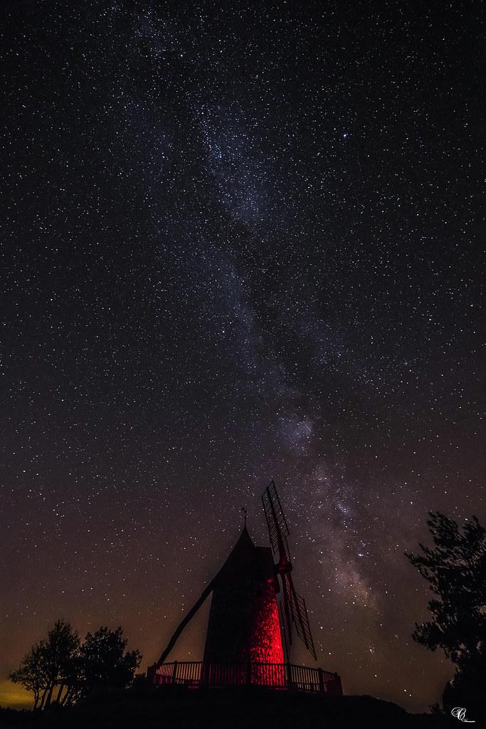 Sous Une Pluie D étoiles : pluie, étoiles, Moulin, Félines, Minervois, Pluie, D'étoile…, Flickr