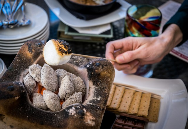 we've never tried this before: tabletop s'mores!