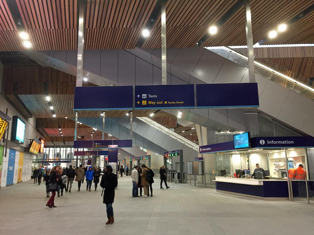 London Bridge station  Newly unwrapped 2nd January 2018