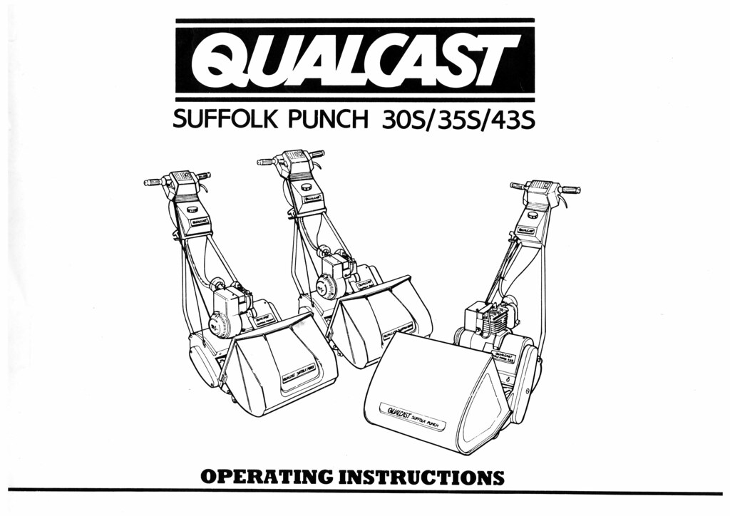 Qualcast Suffolk Punch 30S/35S/43S Operating Instructions