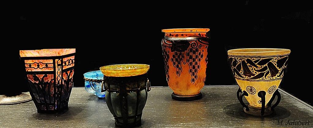 nancy art nouveau vases pate de verre maurice jalabert flickr
