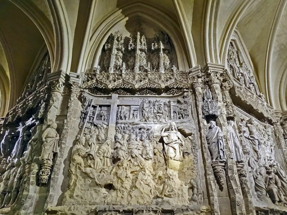 Catedral de Burgos Trasaltar Relieve en girola La Resurreccion de Felipe Vigarny