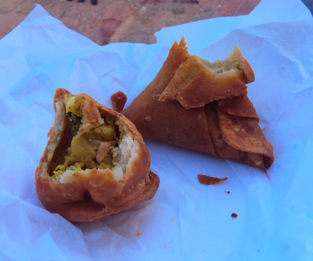 I think these are Punjabi samosas; I ate quite a few in Oman and UAE; that's even how I was able to spend my last 10 AED at the Dubai airport by bryandkeith on flickr