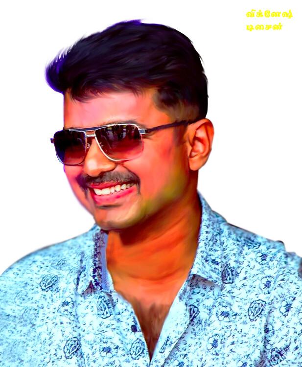 actor vijay painting png