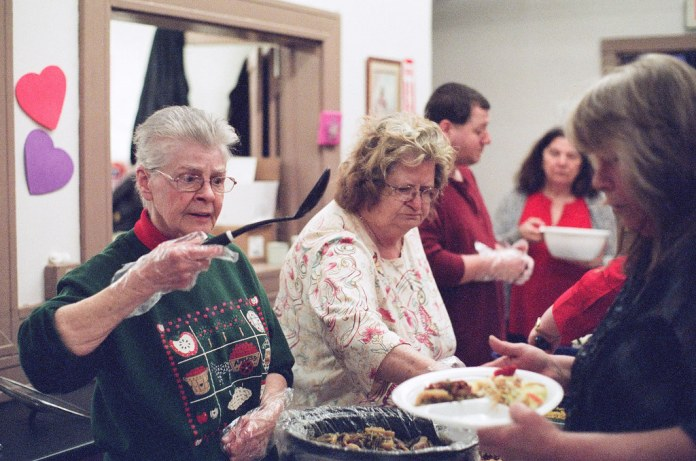 Serving lunch on Fujifilm Superia X-tra 800