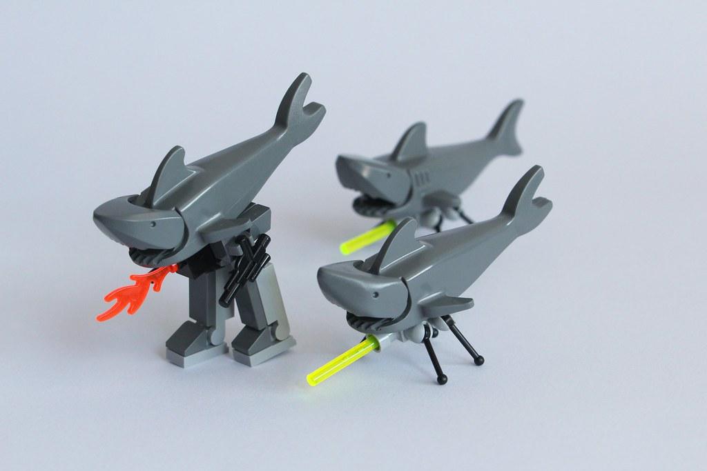 sharks with lasers legobird3
