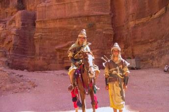 Petra was de stad van de Nabateeërs, die er misschien wel zo uitzagen.