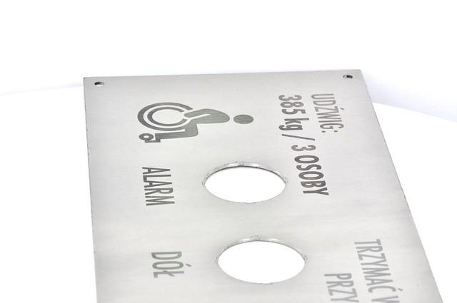 panel do windy grawerowany laserowo