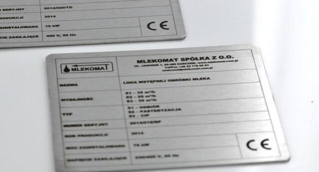 Tabliczki znamionowe ze stali nierdzewnej 1mm