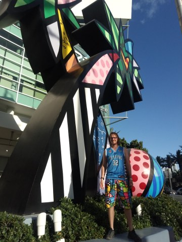 The Britto sculpture