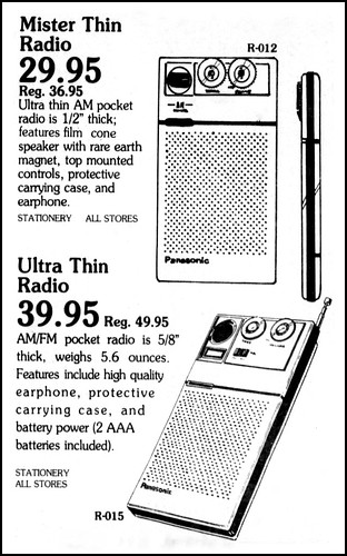 Vintage Advertising For the Panasonic Mister Thin Portable