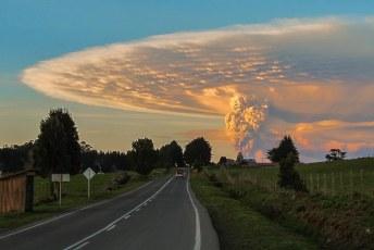 de uitbarsting is maanden doorgegaan