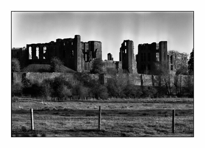 Kenilworth Castle Black and White