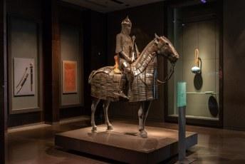 Deze 'Steel Cavalry Armour, Ottoman, Turkey, 15th-16th century' was volgens het bordje erg fragiel. Lekker dan als je zo de oorlog in wordt gestuurd.