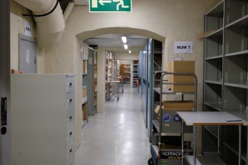 Arkivrum i Rådhusets källare