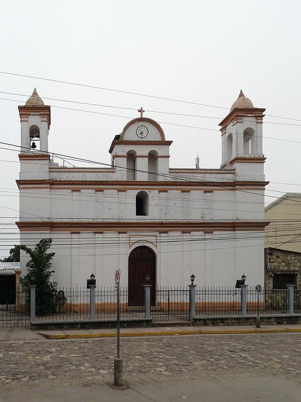 exterior Iglesia de San Jose Obrero en Copan Ruinas Honduras