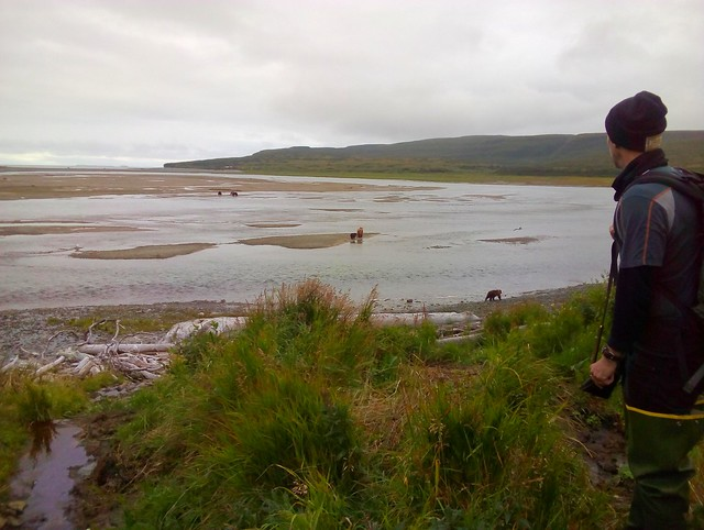 Ian, planning our route across the mud flats back to camp by bryandkeith on flickr