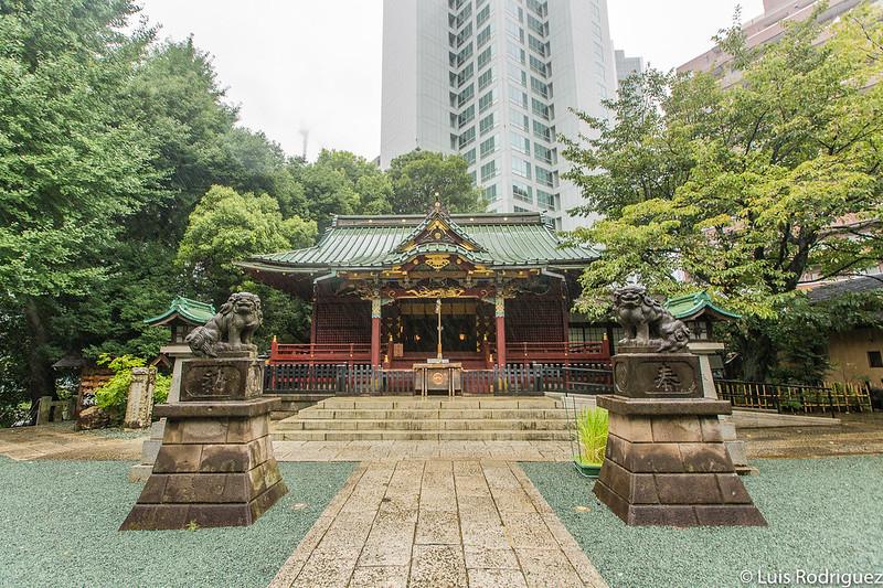 Santuario Konno Hachimnagu bajo un tifón