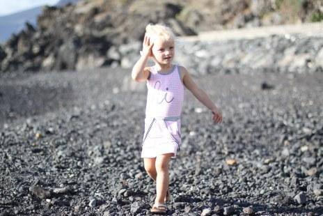 Isa at the black beach
