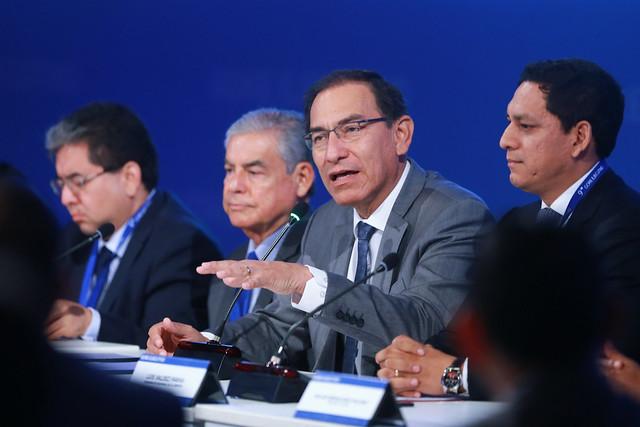 Presidente Vizcarra da inicio al Noveno Gore Ejecutivo, que se lleva a cabo en el Centro de Convenciones de Lima.
