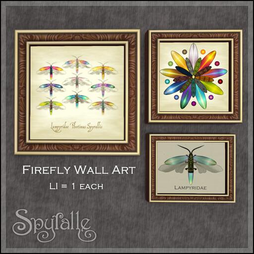 spyralle firefly wall art