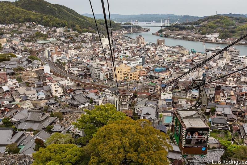 Vistas de Onomichi desde el teleférico