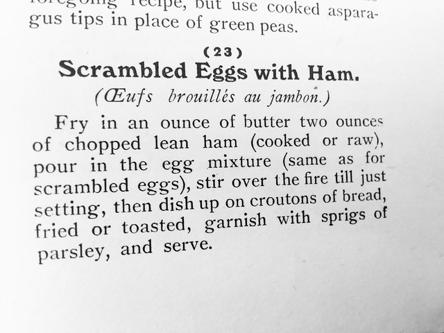 Scrambled Eggs with Ham.