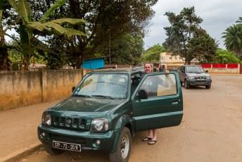 Ik ging namenlijk naar São Tomé (en Principe), waar deze slee voor me klaar stond.