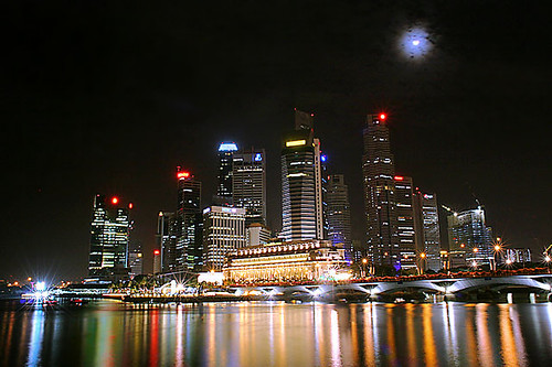 Moon Over Singapore