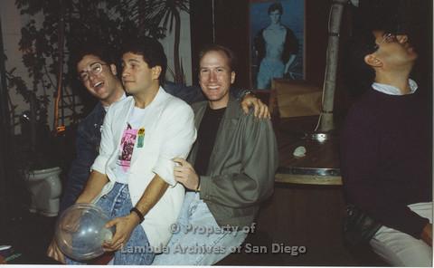 P001.160m.r.t 1st Anniversary 1991: Three men.