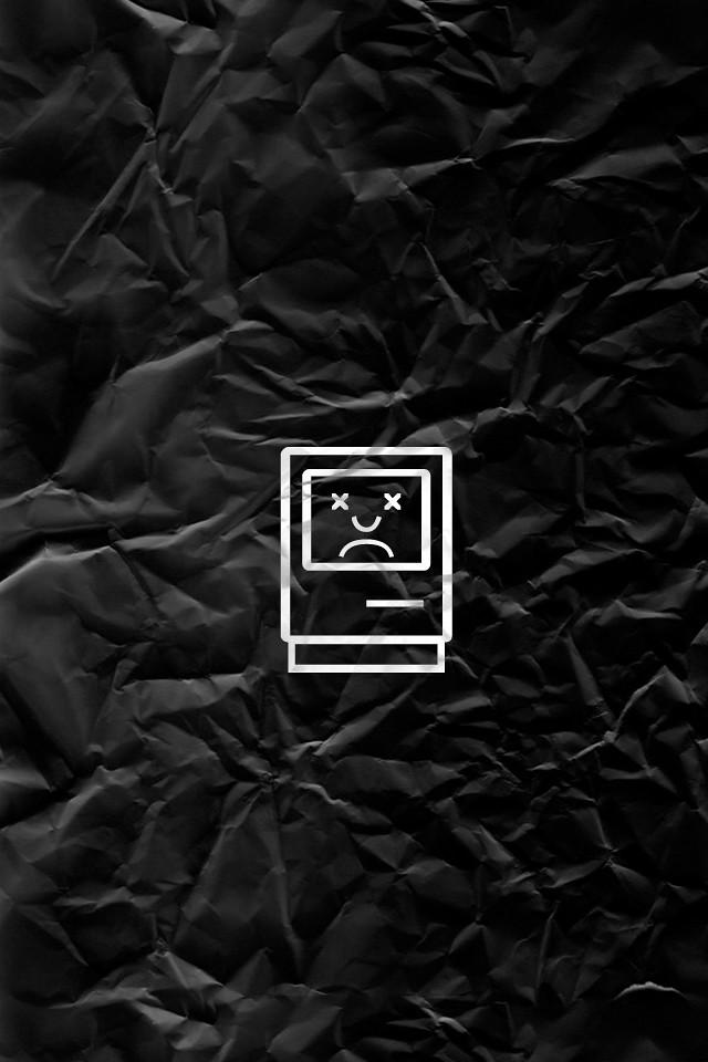 iphone wallpaper black sad