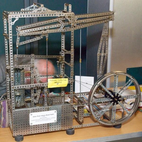 Meccano Model Of James Watt' Rotary Beam Steam Engine