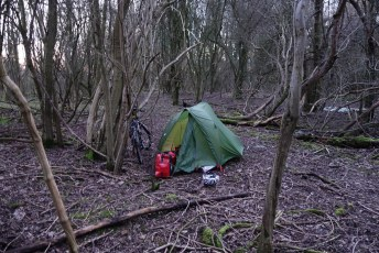 Muddy spot for the first night of the trip, discovered in the pitch black