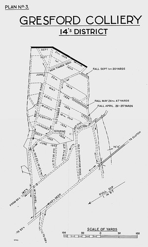 Gresford Colliery Explosion, 22nd September 1934 Plan 3