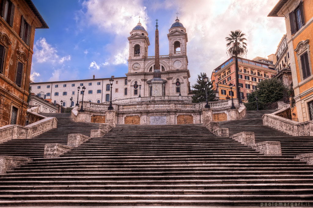 Spanish Steps in Rome  Piazza di Spagna Roma Italia HDR